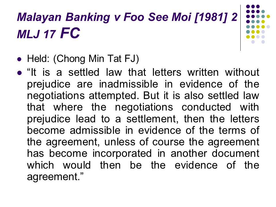 Malayan Banking v Foo See Moi [1981] 2 MLJ 17 FC
